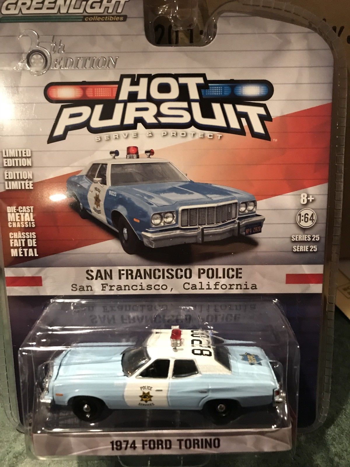 Greenlight Hot Pursuit Ford Torino San Francisco Police