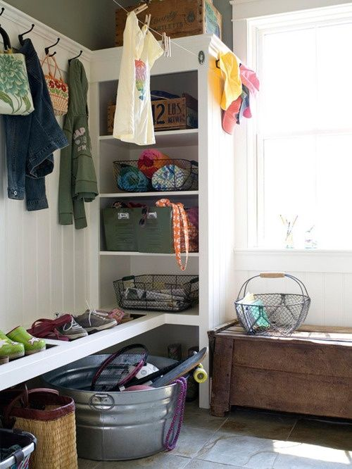 For Corner Or Would Bookcase Be Too Much At Bottom Of Stairs - 63 clever hallway storage ideas