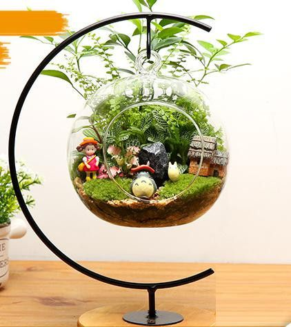 totoro terrarium google search gardening worlds i like the terrarium holder plants. Black Bedroom Furniture Sets. Home Design Ideas