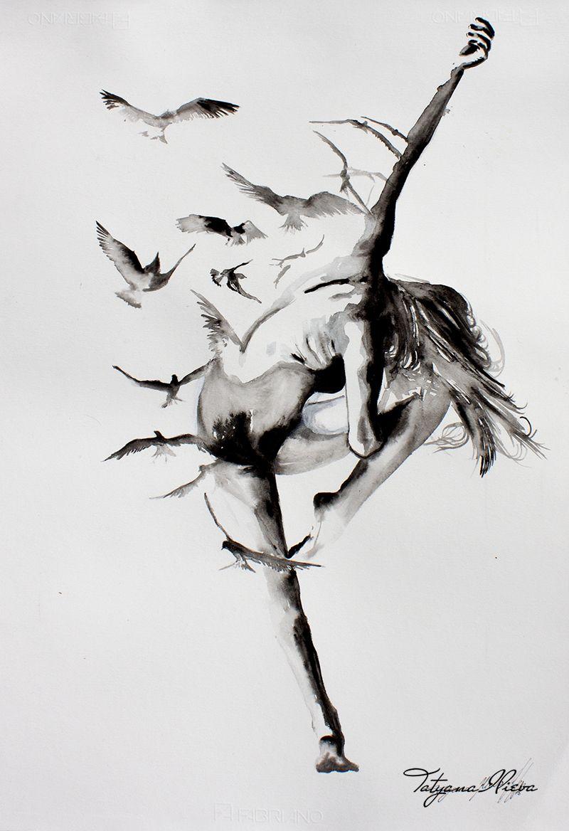 Картинки связанные с танцами нарисовать