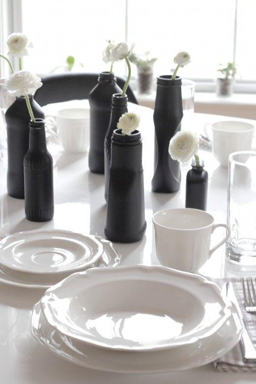 Bottle DIY with Mikasa Antique White dinnerware from Simply Grove & Bottle DIY with Mikasa Antique White dinnerware from Simply Grove ...