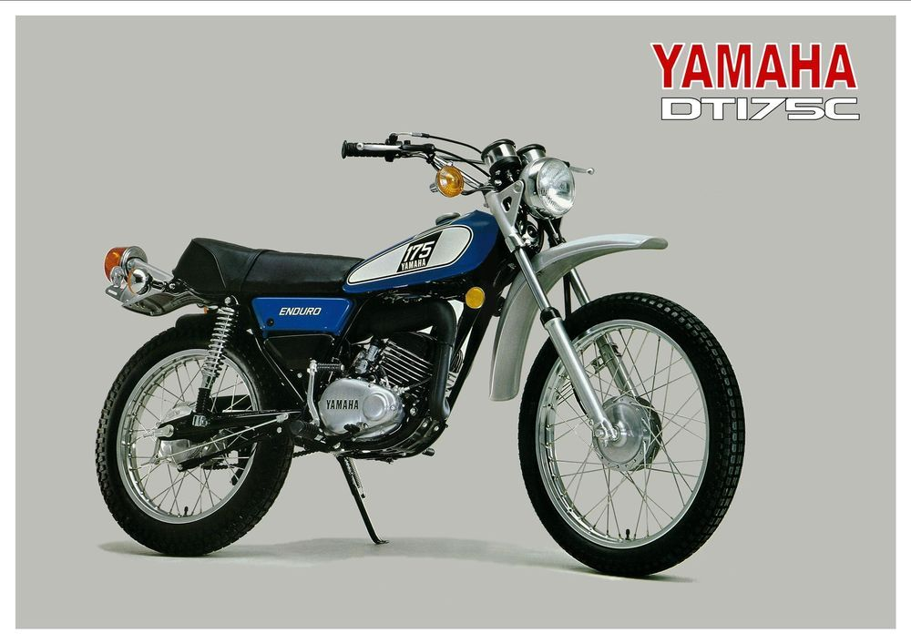 yamaha poster dt175 dt175c trail 1976 suitable to frame. Black Bedroom Furniture Sets. Home Design Ideas