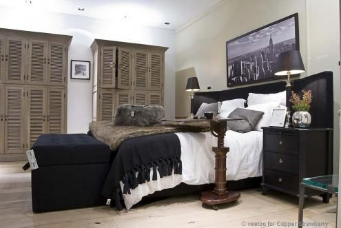 Flamant room view bedroom home interiors bed duncan with wings occasional table cambridge lamp texas black gold oval shade also rh pinterest
