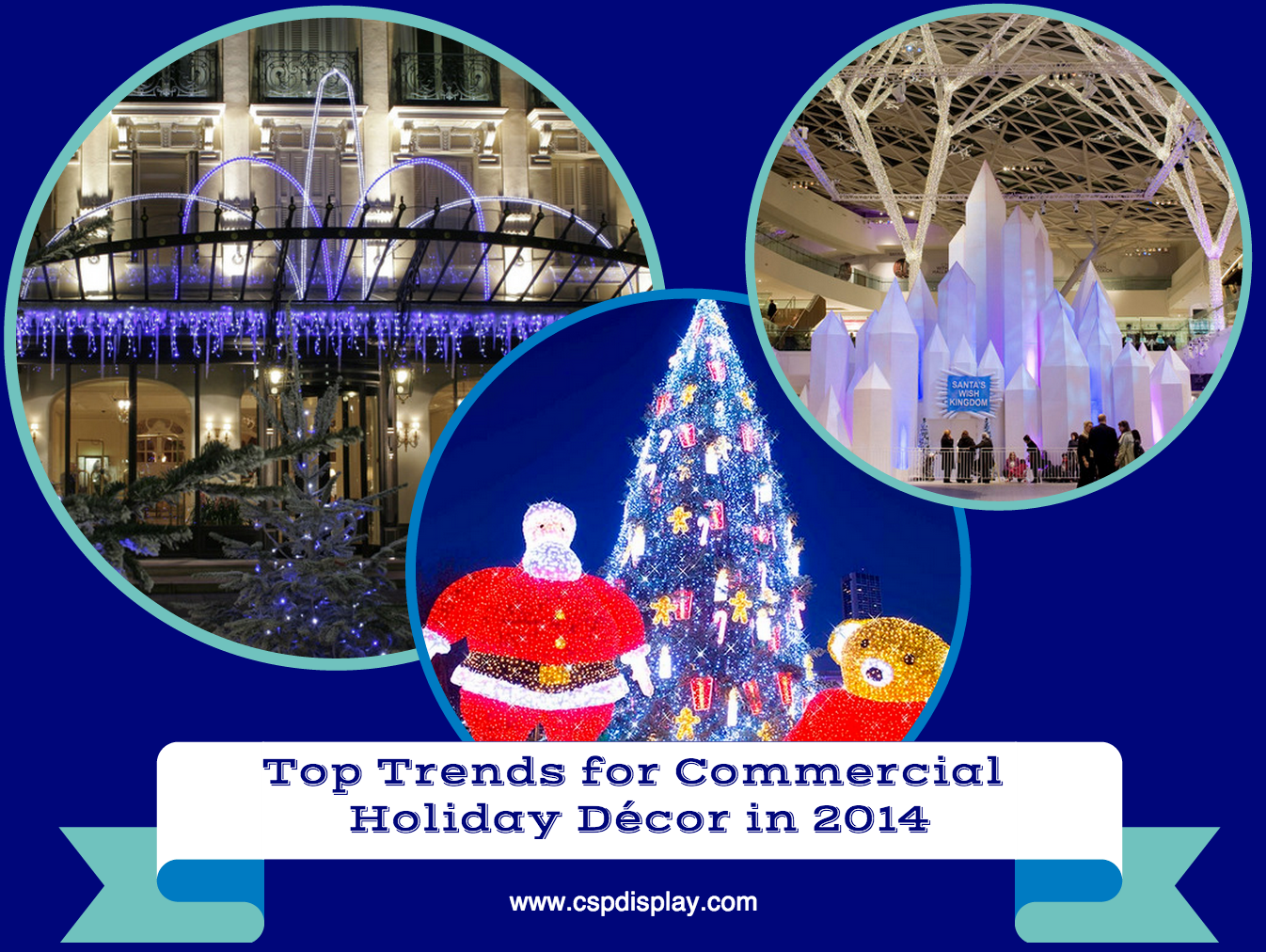 Top Trends for Commercial Decor in 2014 #holidaydecor #seasonaldecor #commercialdecor #cspdisplay