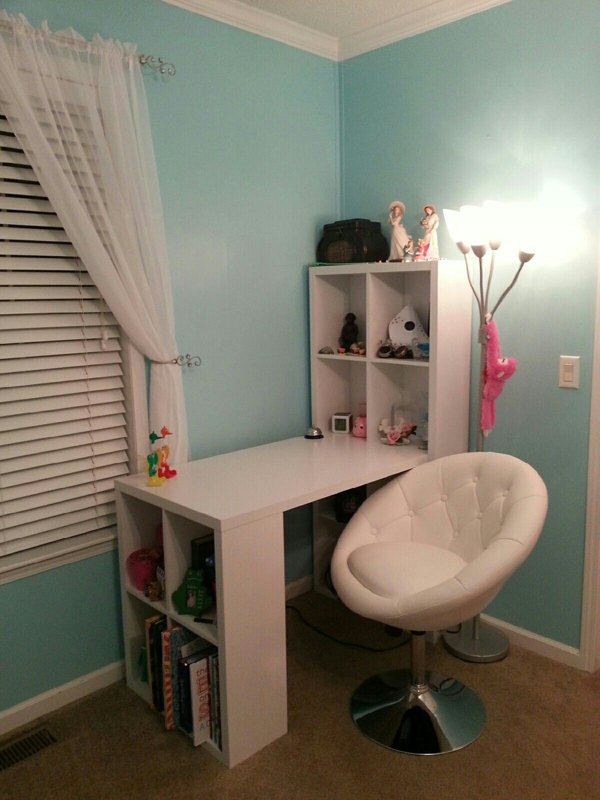 Desk and chair ordered from Amazon. Desk is a hobby desk