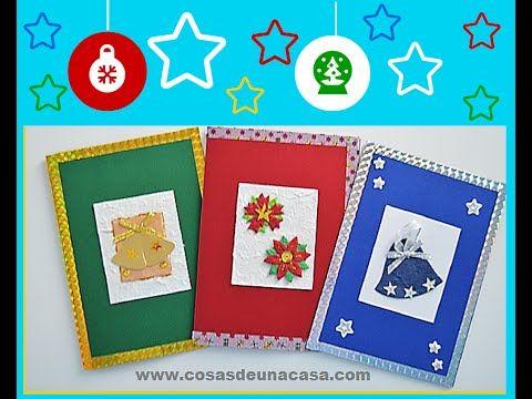 7 tarjetas de Navidad y 3 vídeos tutoriales Manualidades Navidad
