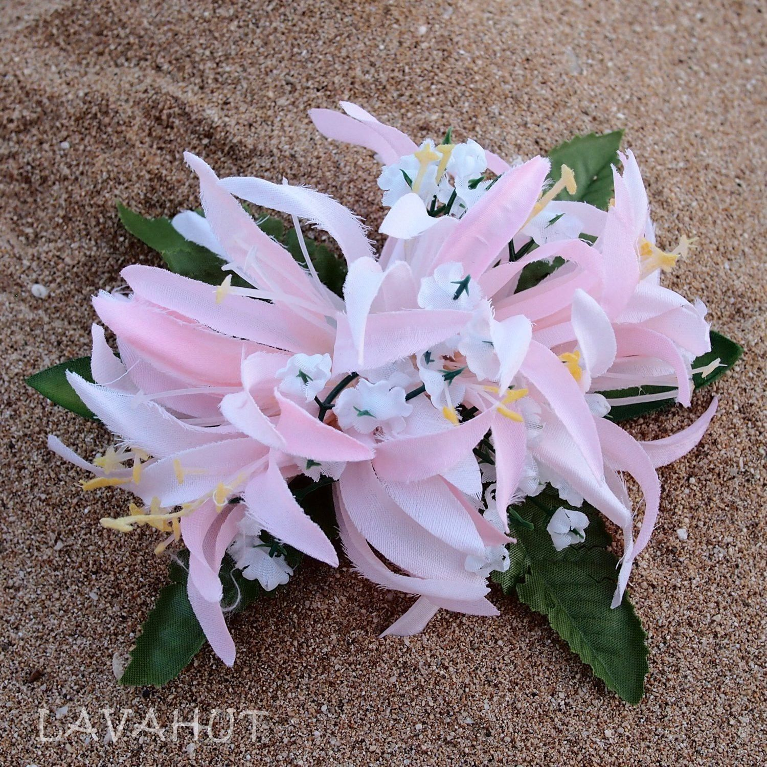 Spider Lily Pink Hawaiian Flower Hair Clip Products Pinterest