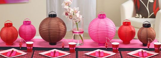 Feng shui your party asian party asian theme parties and tablescapes no asian party is complete without lanterns junglespirit Image collections