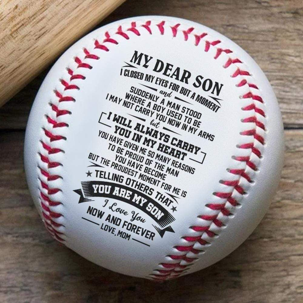 Mom To Son I Will Always Carry You In My Heart Engraved Baseball Gift In 2021 Poems For Boys Grandson Quotes Grandsons