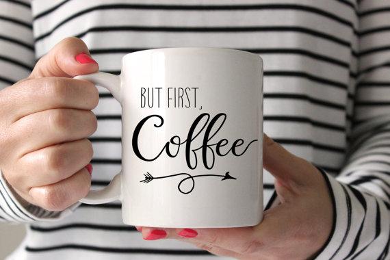 Aber der erste Kaffee Becher Inspirational von WishfulPrinting #ceramicmugs