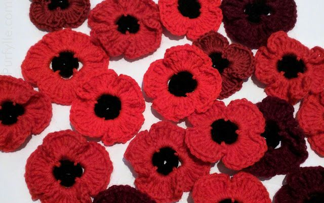 Fast Crochet Poppy Free Pattern Remembrance Day Crochet