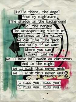 Blink 182 I Miss You Blink 182 Lyrics Cool Lyrics Favorite Lyrics