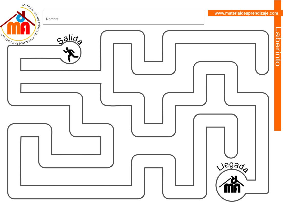 Laberinto para niños: Nivel fácil 07 | Preescolar | Pinterest ...