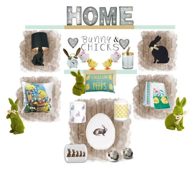 """""""Easter Home Decor"""" by ms-jade-1 ❤ liked on Polyvore featuring interior, interiors, interior design, home, home decor, interior decorating, Crystal Art, Pier 1 Imports, PBteen and Sur La Table"""