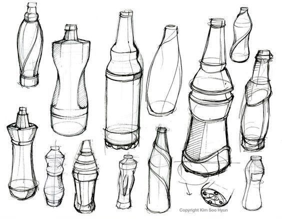 Bottle Drawings Poisk V Google Eskiz Cizimler Cizim
