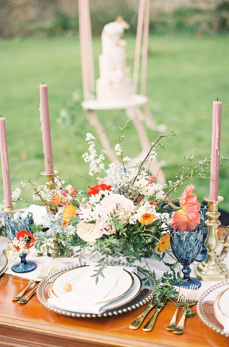Whimsical Summer Chocolat Wedding Ideas at Brympton House | Whimsical Wonderland Weddings