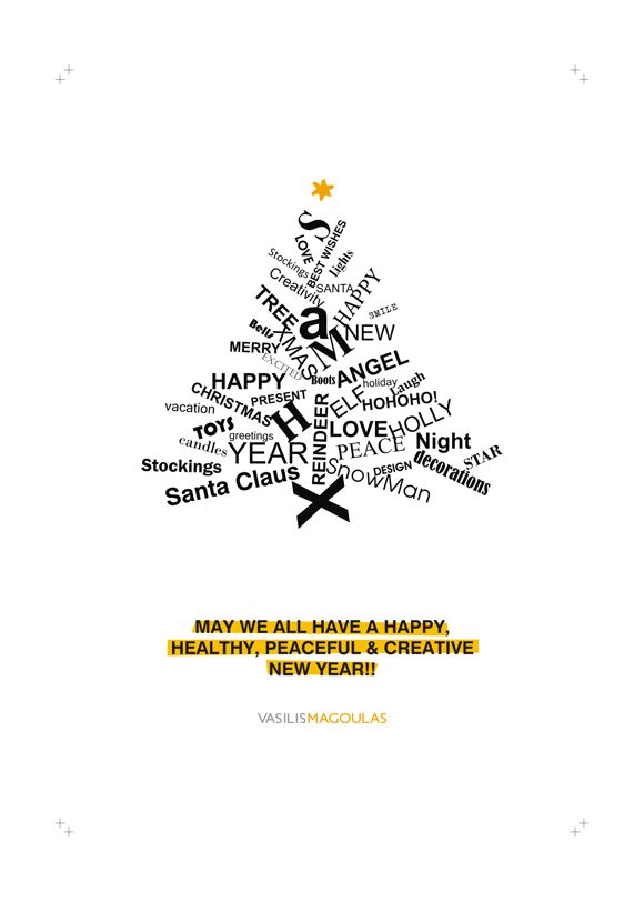 christmas new year greeting cards on behance