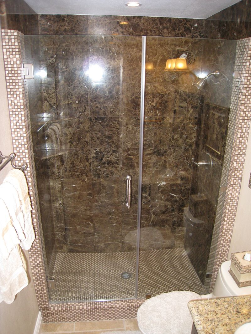 Bathroom Fascinating Granite Stone Tile Design With Glass