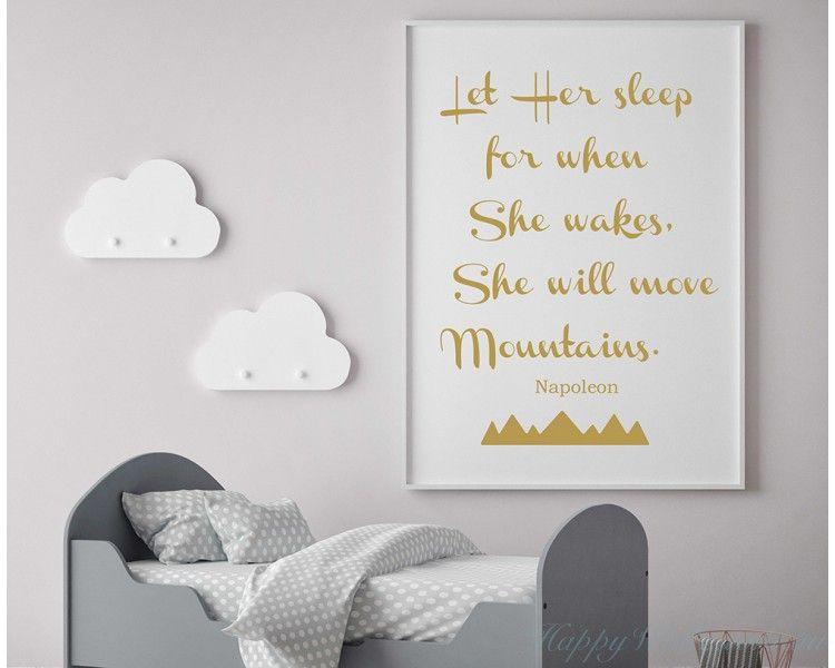 Let Her Sleep For When She Wakes - Baby Girl Nursery Room ...
