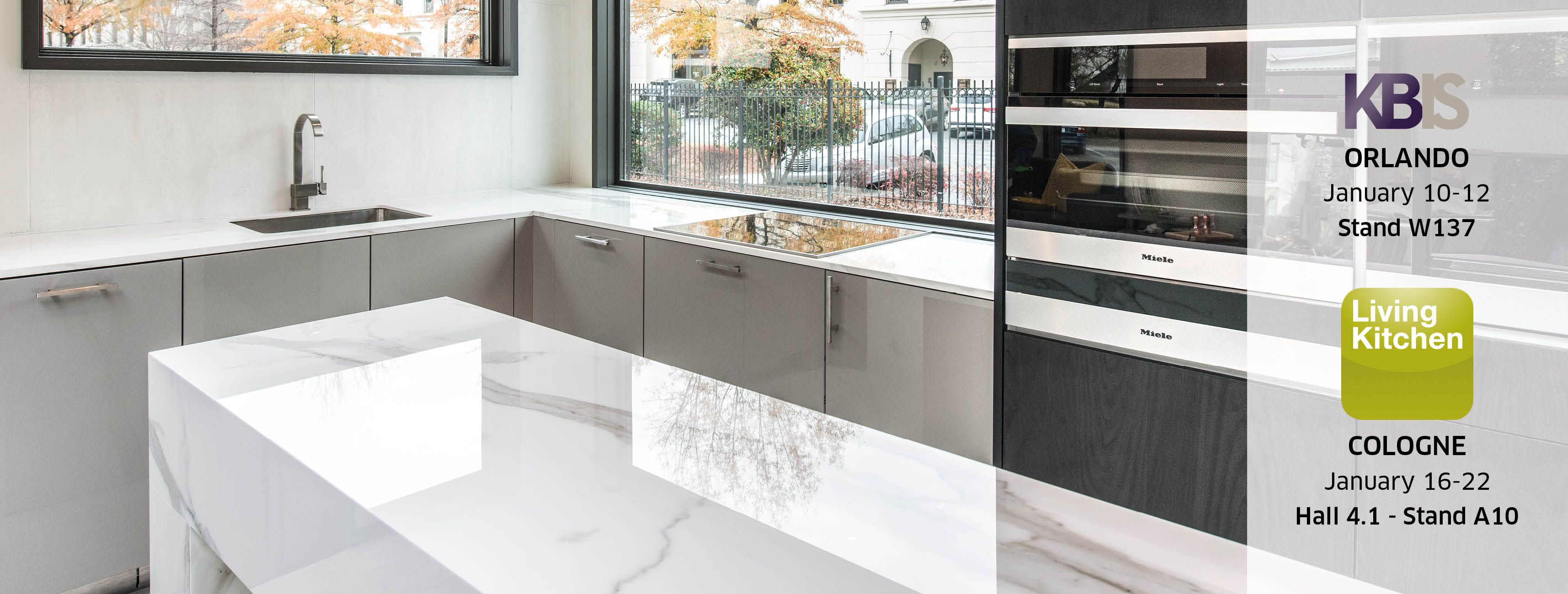 ... the dates of our two upcoming trade shows: KBIS in Orlando (USA) and  Living kitchen in Cologne (Germany). Stay tuned for seeing amazing Neolith  booths.
