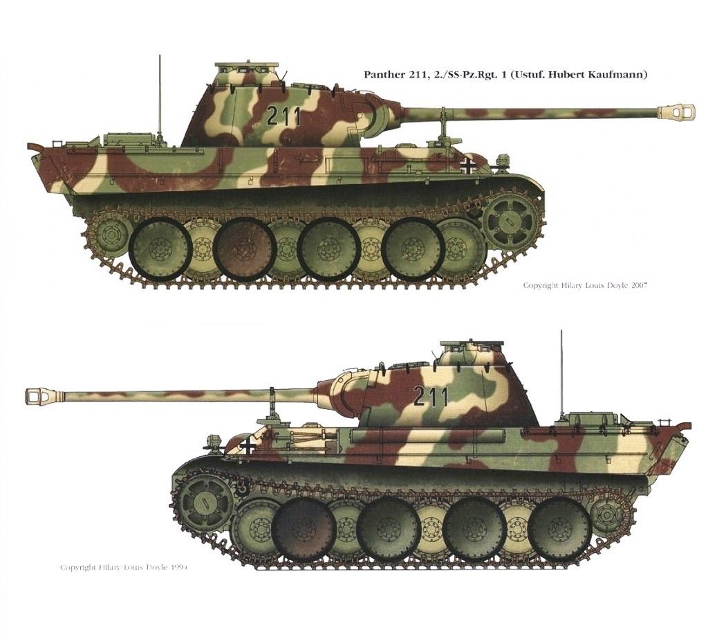 Man Panther Late 3 Colour Scheme Wwii Military Avfs And