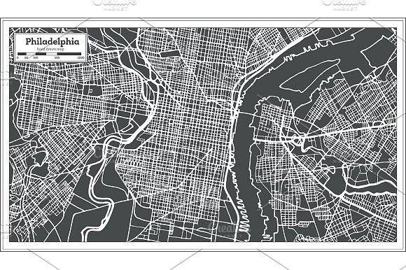 Philadelphia Pennsylvania USA Map Travel Travel Pinterest - Philadelphia usa map