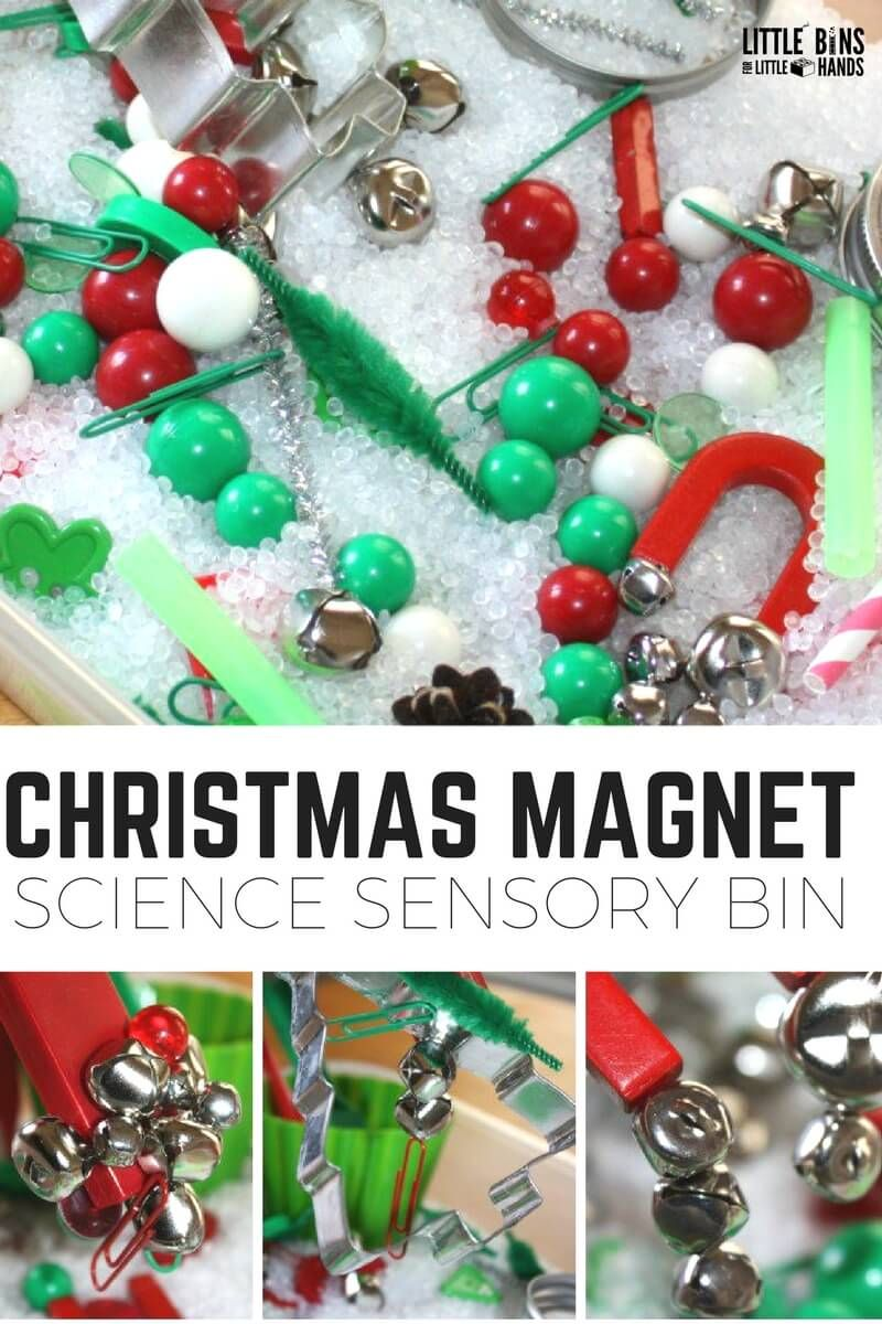 Christmas Magnet Science and Sensory Bin for Kids Experiments ...