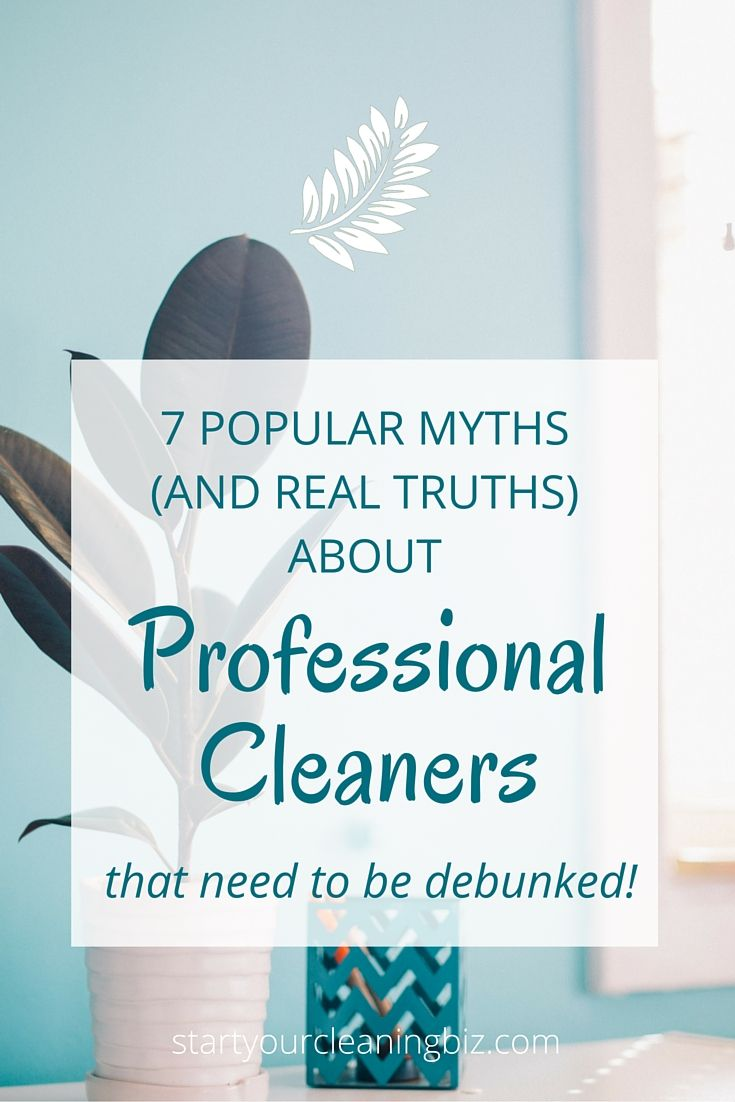 The Myths and Truths about Cleaning and Maintaining your