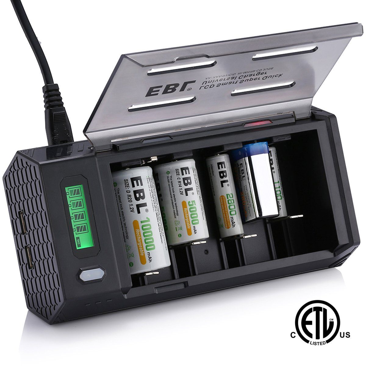 5 Ebl Smart Lcd Battery Charger Rechargeable Batteries Battery Charger Universal Battery Charger