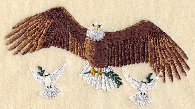 Peace Eagle and Doves
