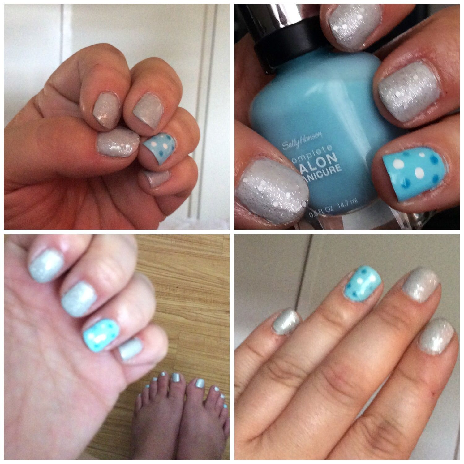 My nails in Sally hansen complete salon manicure in barracuda and