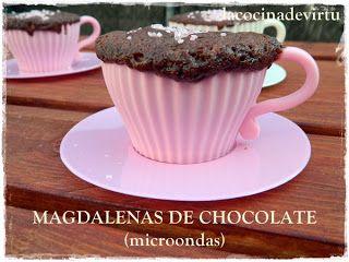 La cocina de Virtu: MAGDALENAS DE CHOCOLATE (microondas)