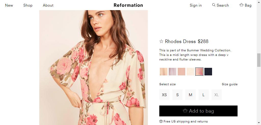 2082a276c6f5 Rhodes Dress - Reformation