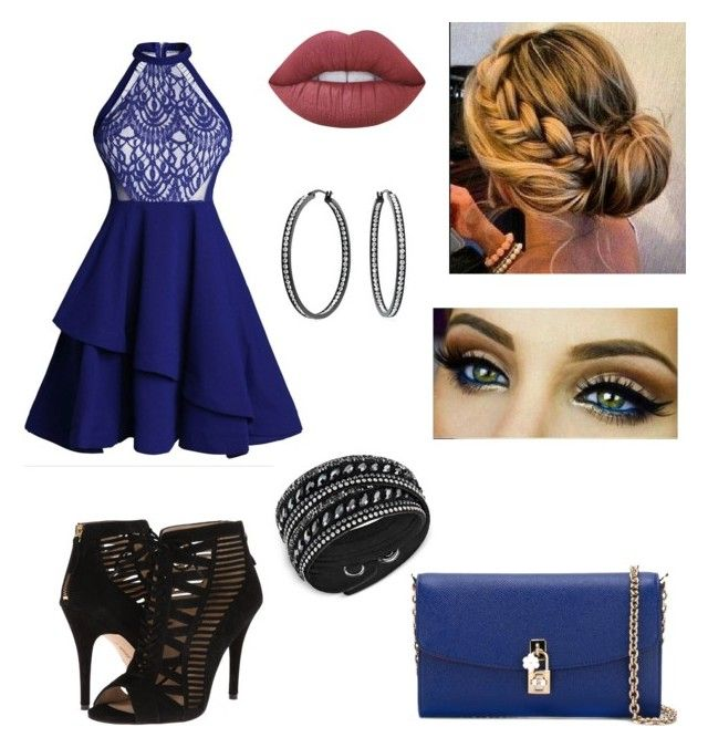 """""""Untitled #341"""" by kaylag21 on Polyvore featuring Lime Crime, Nine West, Bling Jewelry, Swarovski and Dolce&Gabbana"""