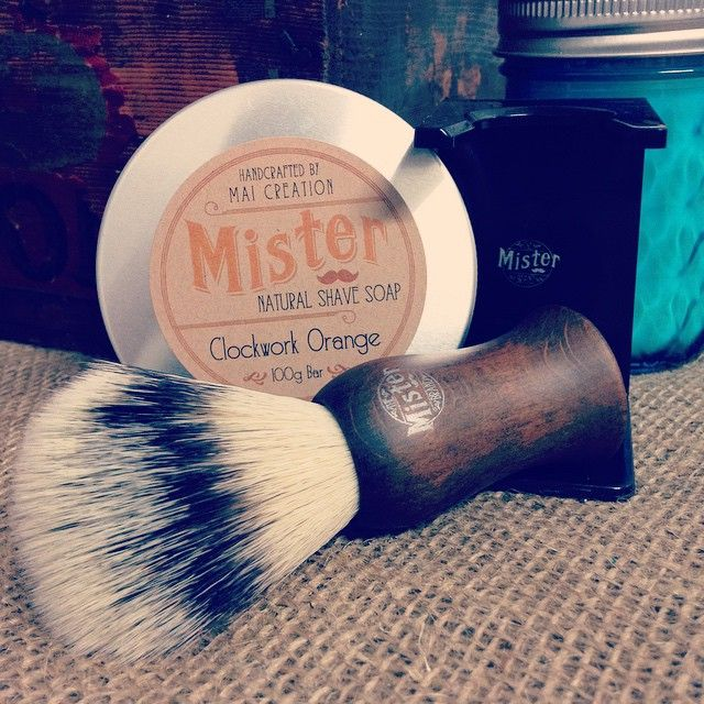 Smooth as! Clean, classic shave with our 'clockwork orange' shave soap and Mister shaving brush to create that perfect lather and shaving experience #classicshave #themisterbrand #shavelikeyourgrandpa