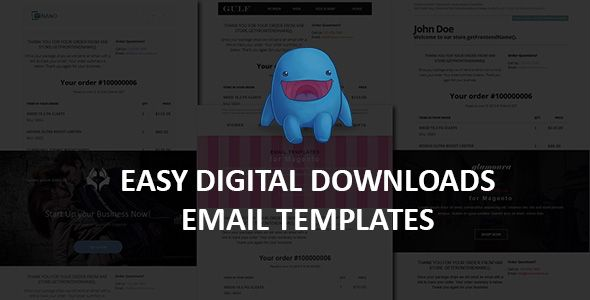 easy digital downloads email templates template