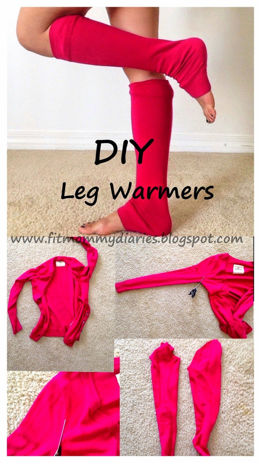 Diary Of A Fit Mommy DIY One Step Leg Warmers For Fall | Crafts U0026 DIY | Pinterest | Menu0026#39;s Socks ...