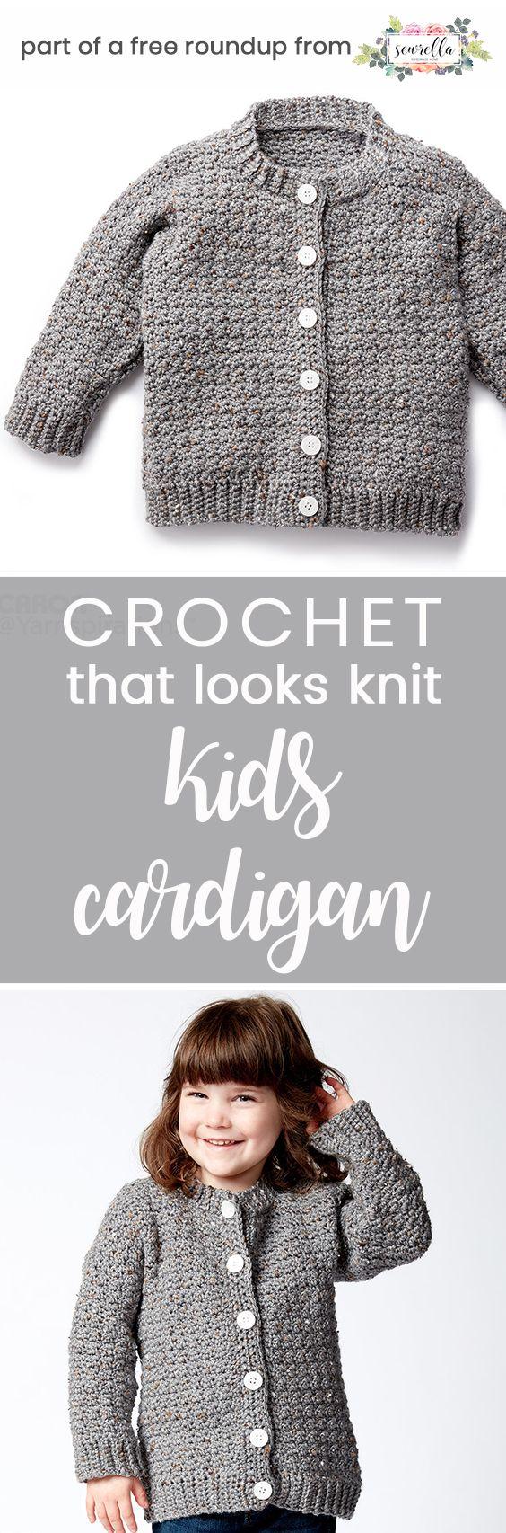 Kids Crochet Patterns that Look Knit | Gabo, Tejido y Patrón gratis