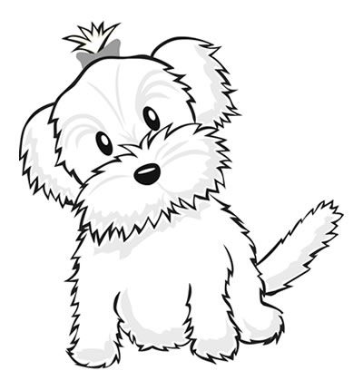 yorkiecoloringpages color a puppy
