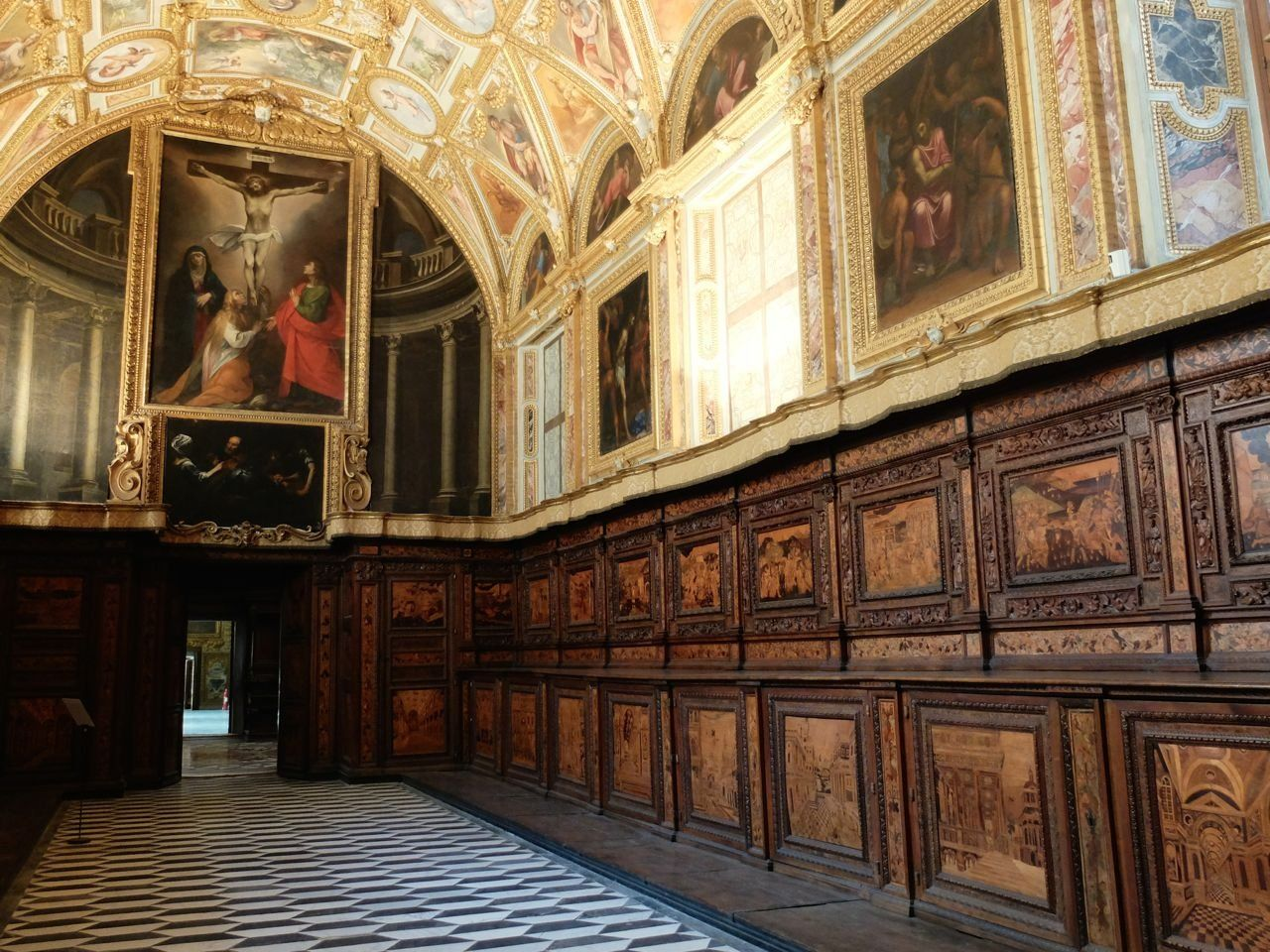 Certosa Di San Martino Naples The Sacristy Inlayed Wooden Walls Of The Late 16th Century By The Flemish Enrico Of Utrecht Baroque Architecture Naples San