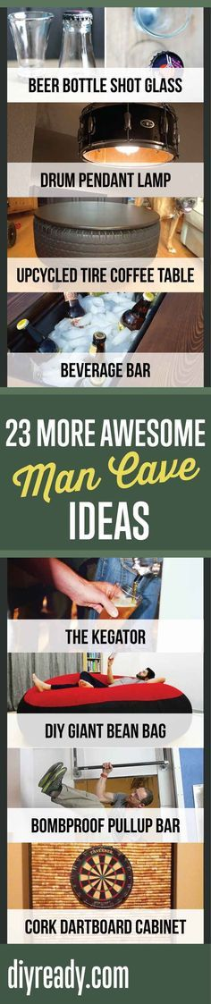 23 More Awesome Man Cave Ideas | Cool Ideas For Your Man Cave By DIY Ready. http://diyready.com/23-more-awesome-man-cave-ideas/