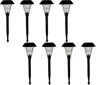 Duracell 8 Piece 10 Lumen Solar Landscape Light Set Solar Pathway Lights Landscape Lighting Solar Garden Lanterns