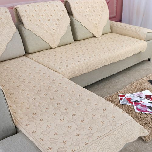 Luxury Europe Cotton Couch Cushions Cover Fabric Thickness