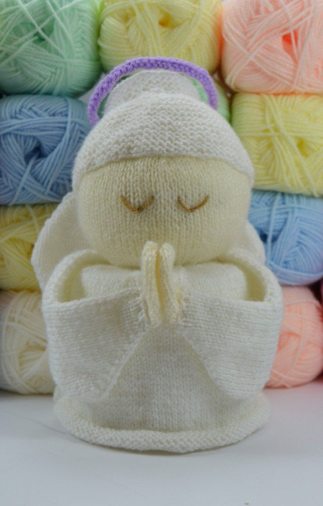 Knitting Pattern for Angel Toilet Roll Cover - #ad Cute cozy for ...