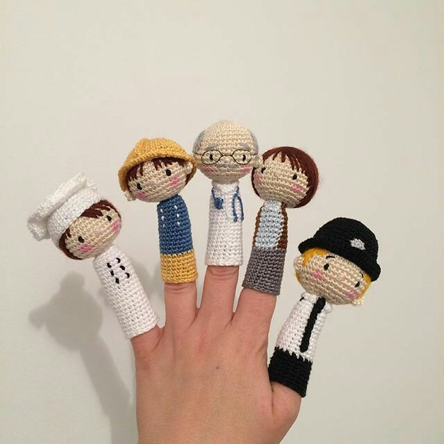 Crocheted Finger Puppets Cute I Think My Little Nieces Would Love