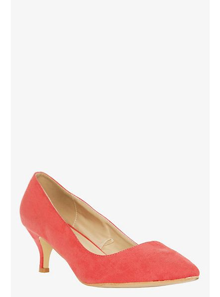 Coral Suede Kitten Heels @ Torrid | What's in my closet ...
