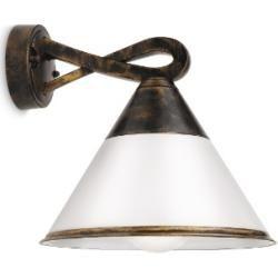 Photo of Lhg Lights Aplique de exterior Lhg, negro, patinado en oro, clásico, lámpara de bajo consumo 114168