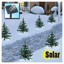 solar mini christmas tree path lights set of 2
