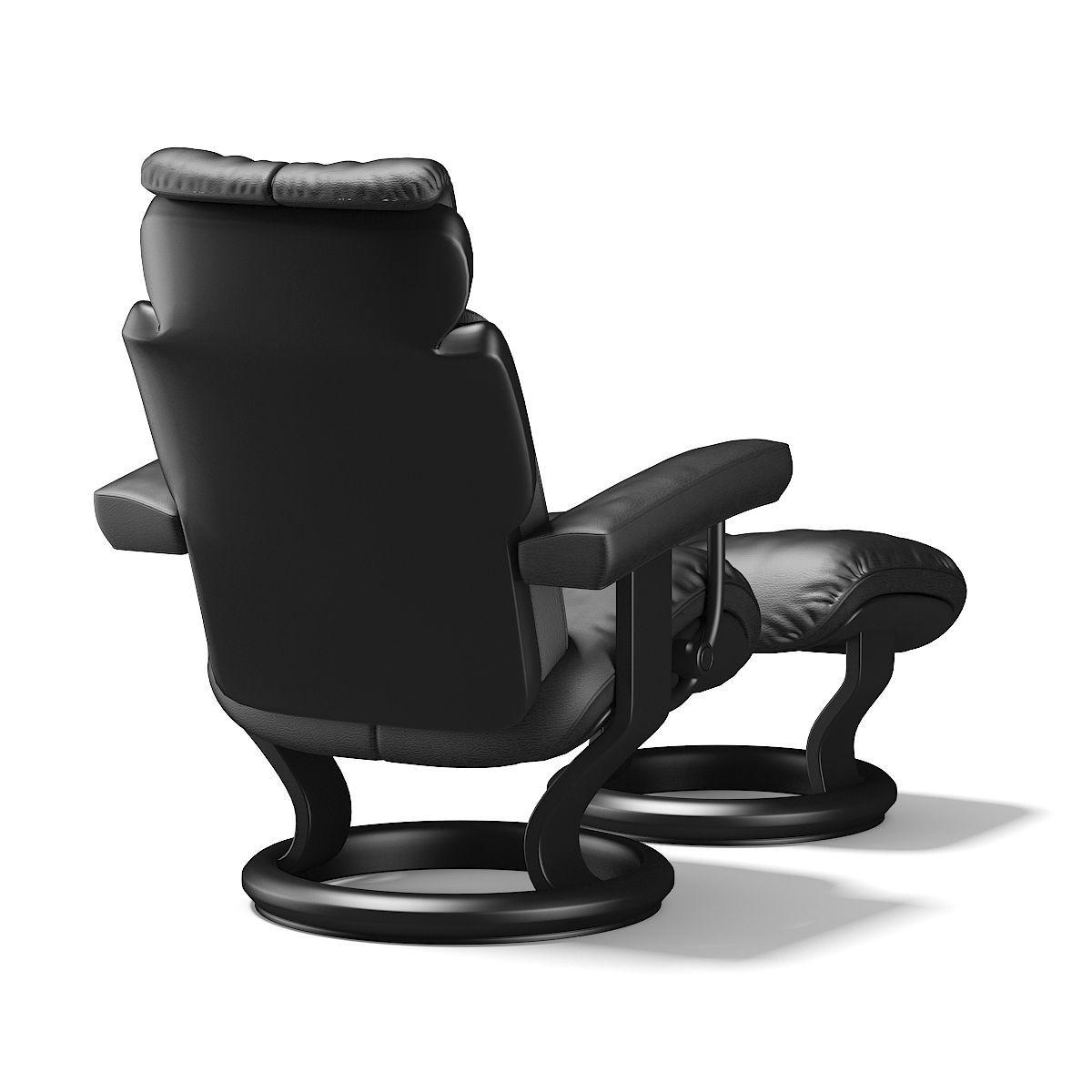 Black Leather Chair With Footrest Black Leather Chair Leather Chair Black Leather Armchair