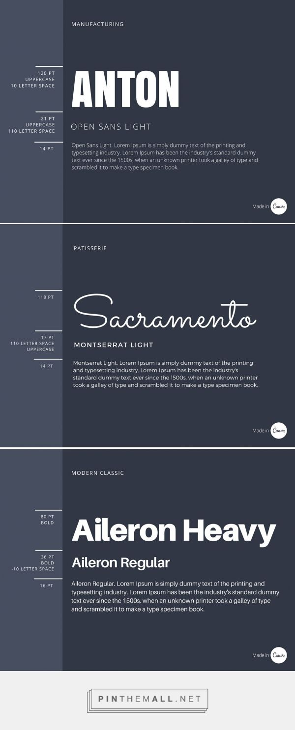 The Ultimate Guide to Font Pairing... - a grouped images picture
